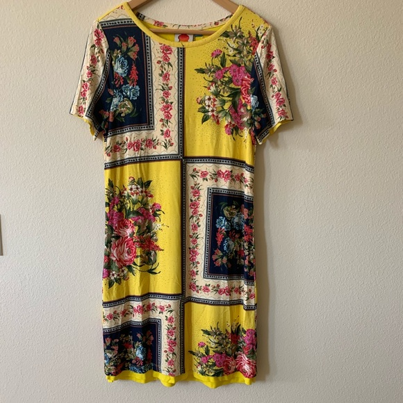 Nwt Anthro Farm Rio Regal Floral Dress Size Small